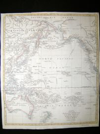 George Cooke C1800 LG Antique Map. Pacific, Including New Holland Australia